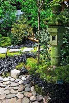 30 Clean and Beautiful Small Japanese Gardens Ideas #GardensIdeas #JapaneseGardens  #JapaneseGardens