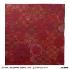 Circular Design with Reds on Cloth Napkin Set Cloth Napkins, Napkins Set, Dining Decor, Dinner Napkins, Rugs, Clothes, Design, Home Decor, Style