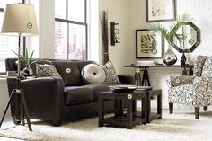 Tips That Help You Get The Best Leather Sofa Deal. Leather sofas and leather couch sets are available in a diversity of colors and styles. A leather couch is the ideal way to improve a space's design and th Living Room Sofa, Living Room Furniture, Living Room Decor, Living Spaces, Dark Furniture, Dark Brown Leather Sofa, Brown Sofa, Black Leather, Dark Sofa