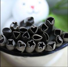 20 pcs/lote bricolage cuir artisanat outil / de poinçon en cuir / spéciale trou de perforateur Rectangle fleur Angle aigu beaucoup modèle livraison gratuite(China (Mainland))