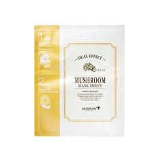 Skinfood Dual Effect Mushroom Mask Sheet | Premium home care for healthy skin! A dual care mask sheet containing mushroom extract to make skin clear and full of nutrients.