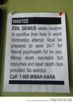 The best job posting i've seen...consider me hired!
