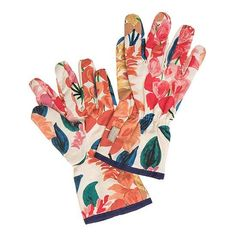 NWT Womanswork Paisley Garden Gloves with Arm Saver Medium Mother's Day