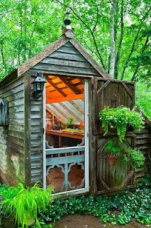 This is lovely. This shed seems fairly inexpensive but with great little details like the skylights over the potting bench and of course the whimsical screen door! ~kss Niki Jabbour - The Year Round Veggie Gardener: Tuesday Inspiration - The Garden Shed
