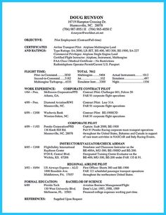 Aviation Resume Example  Resume Examples Sample Resume And