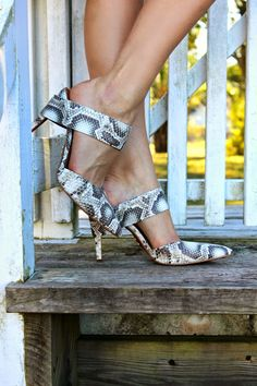Carrano Python pumps styled by Moda & the Mar | Piperlime #momentsofchic