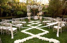 rose petal aisle runner for outdoor wedding ceremonies ivory champagne