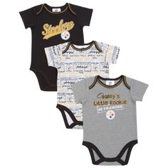Steelers 3 Pack of Onesies make a great shower gift. http   www 156476256