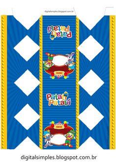 Kit de Personalizados Gratuito para Aniversário Tema Patati Patatá para Imprimir. Lazy Town, Leeds, Diy And Crafts, Carnival, Printables, Silhouette, Clowns, Mardi Gras, Carnivals