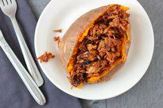 BBQ Jackfruit Stuffed Sweet Potatoes | Community Post: 10 Vegan Dishes That Will Have You Questioning Your Beliefs In Animal Products