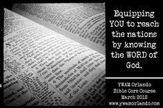 Bible Core Course @ YWAM Orlando: http://www.ywamorlando.com/traning_school_bible_core_course.aspx