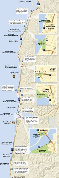 Oregon coast trails map