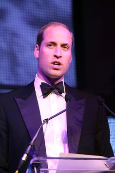 Prince William, Duke of Cambridge makes a speech during the Tusk Trust conservation charity 25th Anniversary Ball, which honours the charity's impact in the midst of the continuing crisis facing wildlife in Africa, at Syon House on September 17, 2015 in Brentford, England