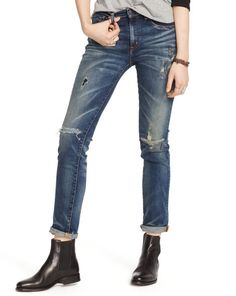 Hemlock High-Rise Skinny Jean - Denim & Supply  Leather - RalphLauren.com