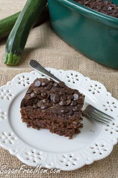 Crock Pot Sugar Free Chocolate Zucchini Cake & gluten free/sugarfreemom.com