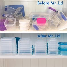 Simple solution to organising those cupboards once and for all - and so stylish.