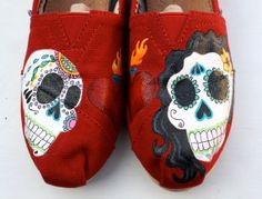Custom Painted Shoes by Pearmama on Etsy
