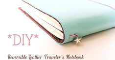 Tutorial diy reversible leather traveler's notebook fauxdori, diy notebook, Project Life, Handmade Journals, Handmade Books, Diy Notebook, Notebook Covers, Diy Leather Notebook Cover, Binder Covers, Journal Covers, Journal Notebook