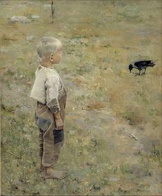 Akseli Gallen-Kallela (Boy with a Crow)