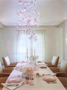 Sala de jantar com decoração romântica | Eu Decoro