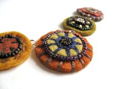 Custom felt circles set of five by aimeere on Etsy, $40.00