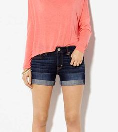 AE Denim Boyfit Midi Short - a little shorter than I want but these will be good for those super hot Texas summer days!