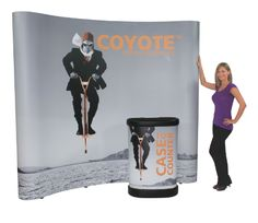 The Coyote popup display system combines strength, reliablility, and style in a lightweight and easy to use system. It is fully magnetic, making it simple to assemble and disassemble, and is available in a wide range of sizes and configurations.