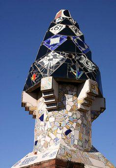 Gaudi's chimneys, Palau Guell, Barcelona