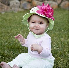 Garden Polka Dots Baby Sun Hat $27.99 USD