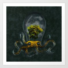 ahhh sooo cool! // Octarium Art Print by Dale Keys - $18.00