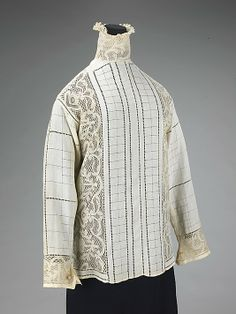 Blouse  Date: ca. 1910 Culture: French (probably) Medium: linen, silk