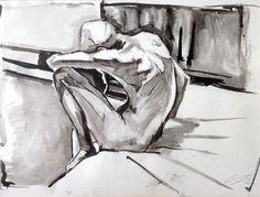 Sitting figure – by Gary Drostle