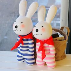 Lovers Handmade Animal Stuffed Rabbit Doll Sock Toy Sock DIY Kit