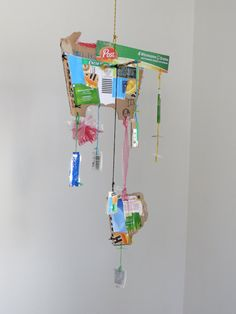 Eco Recycled Mobile by CharestStudios on Etsy, $69.00