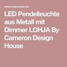 LED Pendelleuchte aus Metall mit Dimmer LOHJA By Cameron Design House