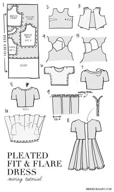 Sewing for the Everyday Girl: DIY FRIDAY: PLEATED FIT + FLARE DRESS TUTORIAL:...<3 Deniz <3