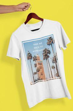 "T-shirt 100% coton unisexe ""Take me back to Marrakech""  lepetitdromadaire.com Marrakech, Take My, T Shirt, Mens Tops, Fashion, Unisex, Supreme T Shirt, Moda, Tee"