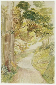 """""""Eastdean Road, Sussex"""" by Eric Ravilious"""
