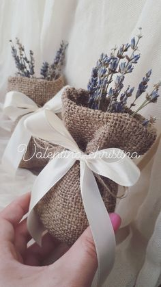 Χειροποίητες μπομπονιέρες γάμου vintage με λεβάντα by valentina-christina καλέστε 2105157506