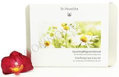 Dr. Hauschka Clarifying Face Care Kit - contains: 10ml Cleansing Cream,10ml Clarifying Toner, 5ml Normalizing Day Oil, 10ml Facial Steam Bath, 10g Cleansing Clay Mask, 5ml Rejuvenating Mask. Dr.Hauschka Skin Care products support the intrinsic activity of facial skin which has lost its equilibrium and help it to overcome its imbalances. The skin regains its harmony and can regulate itself again. #DrHauschka #skincare #natural #cleansing #faceCare #beauty