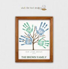 DIY Printable Handprint Tree - Father's Day Gift - Family Tree - Mother's Day Gift - Grandparent's Day Gift - Personalized - Printable