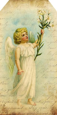 """""""The Sweetest Angel"""" ~ free printable tag"""