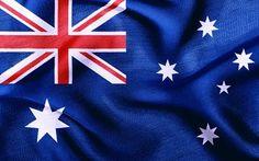 Australia, Australian flag, silk flag, flags of the world.  Wallpaper.
