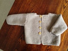 BABY TOP HAND KNITTED LIGHT BROWN LONG SLEEVES PURE WOOL-SIZE 6 MONTHS- NEW