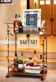 Bar Cart with casters - possible use of my material (cast polyamide which I can produce) for the casters