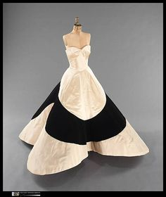 """Four Leaf Clover"" gown, 1953. Charles James. Brooklyn Museum Costume Collection at The Metropolitan Museum of Art."