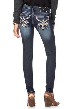 88ef34c6ee Modern Cross Skinny Jeans by missme Miss Me Jeans