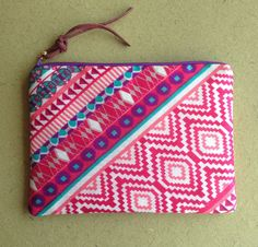 Items similar to Pink, Purple and Blue Multipurpose Zipper Pouch/ Makeup Bag/ Travel Pouch/ Purse Organizer/ Passport Pouch/ Coin Purse/ Multicolour Pouch on Etsy Purple Fabric, Pink Purple, Blue, Purse Organization, Abstract Print, Zipper Pouch, Pouches, Coin Purse, My Etsy Shop