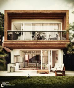 Love the look of this small compact housing! 2 Storey House Design, Small House Design, Modern House Design, Industrial Home Design, Industrial House, House Architecture Styles, Architecture Design, Small Villa, Zen House