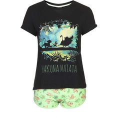 TopShop Lion King Pyjama Set (45 AUD) ❤ liked on Polyvore featuring intimates, sleepwear, pajamas, grey and topshop